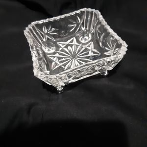 Vintage Glass Candy Dish.